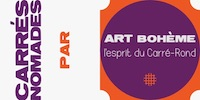Bannière logo Carrés Nomades par Art Bohème
