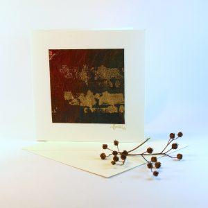 """Carterie d'Art - Carte artistique collection """"Dans les toiles"""" n°1 - Format 13,5 x 13,5 en vente sur la boutique de Carrés Nomades"""