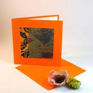 """Carterie d'Art - Carte artistique collection """"Floralies"""" n°1 - Format 13,5 x 13,5 en vente sur la boutique de Carrés Nomades"""