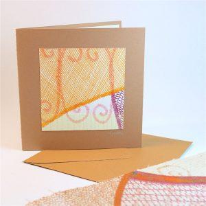 """Carterie d'Art - Carte artistique collection """"La face cachée"""" n°1 - Format 13,5 x 13,5 en vente sur la boutique de Carrés Nomades"""