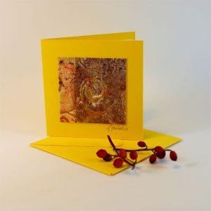"""Carterie d'Art - Carte artistique collection """"Dans les toiles"""" n°10 - Format 7,5 x 7,5 en vente sur la boutique de Carrés Nomades 3"""