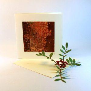 """Carterie d'Art - Carte artistique collection """"Dans les toiles"""" n°4 - Format 13,5 x 13,5 en vente sur la boutique de Carrés Nomades"""