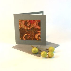 """Carterie d'Art - Carte artistique collection """"Dans les toiles"""" n°4 - Format 7,5 x 7,5 en vente sur la boutique de Carrés Nomades"""