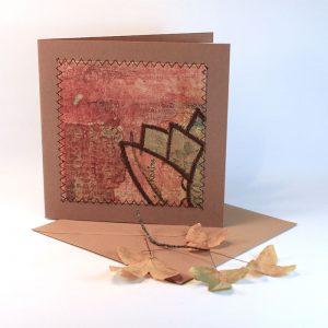 """Carterie d'Art - Carte artistique collection """"Dans les toiles"""" n°4 - Format 15,5 x 15,5 en vente sur la boutique de Carrés Nomades"""