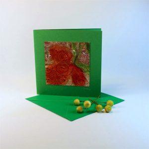 """Carterie d'Art - Carte artistique collection """"Dans les toiles"""" n°6 - Format 13,5 x 13,5 en vente sur la boutique de Carrés Nomades"""