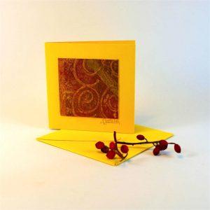 """Carterie d'Art - Carte artistique collection """"Dans les toiles"""" n°7 - Format 7,5 x 7,5 en vente sur la boutique de Carrés Nomades"""