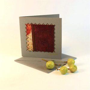 """Carterie d'Art - Carte artistique collection """"Dans les toiles"""" n°8 - Format 7,5 x 7,5 en vente sur la boutique de Carrés Nomades"""