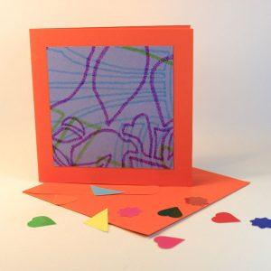 """Carterie d'Art - Carte artistique collection """"Enfantinades"""" n°2 - Format 15,5 x 15,5 en vente sur la boutique de Carrés Nomades"""