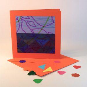 """Carterie d'Art - Carte artistique collection """"Enfantinades"""" n°3 - Format 15,5 x 15,5 en vente sur la boutique de Carrés Nomades"""