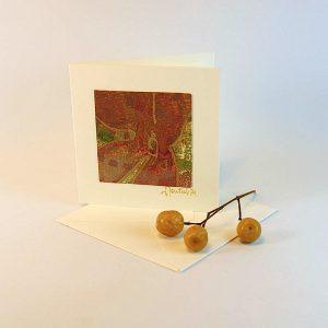 """Carterie d'Art - Carte artistique collection """"Floralies"""" n°10 - Format 7,5 x 7,5 en vente sur la boutique de Carrés Nomades"""
