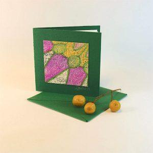 """Carterie d'Art - Carte artistique collection """"Floralies"""" n°11 - Format 7,5 x 7,5 en vente sur la boutique de Carrés Nomades"""