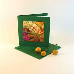 """Carterie d'Art - Carte artistique collection """"Floralies"""" n°12 - Format 7,5 x 7,5 en vente sur la boutique de Carrés Nomades"""