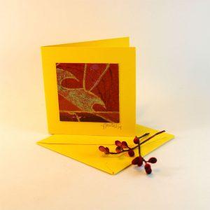 """Carterie d'Art - Carte artistique collection """"Floralies"""" n°14 - Format 7,5 x 7,5 en vente sur la boutique de Carrés Nomades 2"""