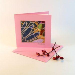 """Carterie d'Art - Carte artistique collection """"Floralies"""" n°15 - Format 7,5 x 7,5 en vente sur la boutique de Carrés Nomades"""