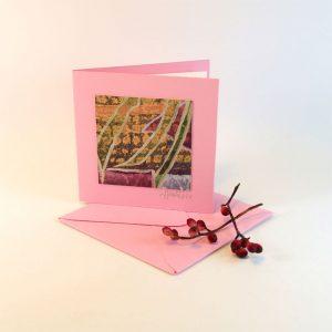 """Carterie d'Art - Carte artistique collection """"Floralies"""" n°16 - Format 7,5 x 7,5 en vente sur la boutique de Carrés Nomades"""