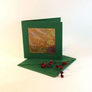 """Carterie d'Art - Carte artistique collection """"Floralies"""" n°17 - Format 7,5 x 7,5 en vente sur la boutique de Carrés Nomades"""