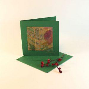 """Carterie d'Art - Carte artistique collection """"Floralies"""" n°18 - Format 7,5 x 7,5 en vente sur la boutique de Carrés Nomades"""