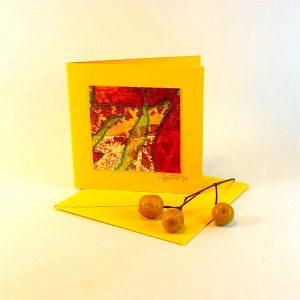 """Carterie d'Art - Carte artistique collection """"Floralies"""" n°2 - Format 7,5 x 7,5 en vente sur la boutique de Carrés Nomades"""