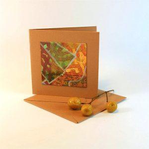 """Carterie d'Art - Carte artistique collection """"Floralies"""" n°3 - Format 7,5 x 7,5 en vente sur la boutique de Carrés Nomades"""