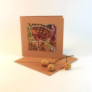 """Carterie d'Art - Carte artistique collection """"Floralies"""" n°4 - Format 7,5 x 7,5 en vente sur la boutique de Carrés Nomades"""