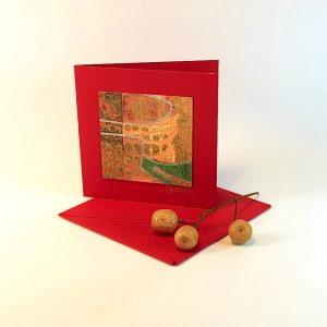 """Carterie d'Art - Carte artistique collection """"Floralies"""" n°5 - Format 7,5 x 7,5 en vente sur la boutique de Carrés Nomades"""