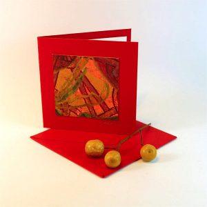 """Carterie d'Art - Carte artistique collection """"Floralies"""" n°6 - Format 7,5 x 7,5 en vente sur la boutique de Carrés Nomades"""