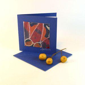 """Carterie d'Art - Carte artistique collection """"Floralies"""" n°8 - Format 7,5 x 7,5 en vente sur la boutique de Carrés Nomades"""