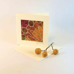 """Carterie d'Art - Carte artistique collection """"Floralies"""" n°9 - Format 7,5 x 7,5 en vente sur la boutique de Carrés Nomades"""