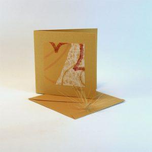 """Carterie d'Art - Carte artistique collection """"La face cachée"""" n°2 - Format 7,5 x 7,5 en vente sur la boutique de Carrés Nomades"""