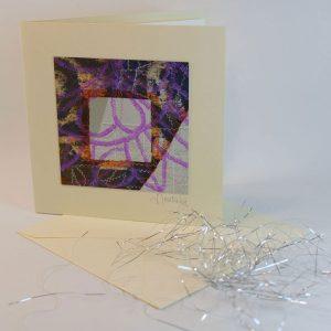 """Carterie d'Art - Carte artistique collection """"La face cachée"""" n°20 - Format 13,5 x 13,5 en vente sur la boutique de Carrés Nomades"""