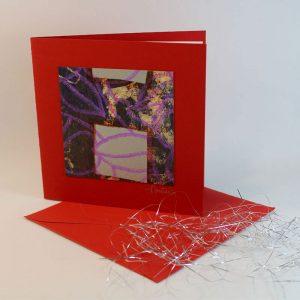 """Carterie d'Art - Carte artistique collection """"La face cachée"""" n°21 - Format 13,5 x 13,5 en vente sur la boutique de Carrés Nomades"""