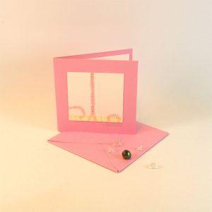 """Carterie d'Art - Carte artistique collection """"La face cachée"""" n°21 - Format 7,5 x 7,5 en vente sur la boutique de Carrés Nomades"""