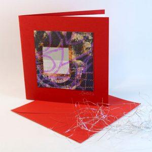 """Carterie d'Art - Carte artistique collection """"La face cachée"""" n°22 - Format 13,5 x 13,5 en vente sur la boutique de Carrés Nomades"""