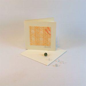 """Carterie d'Art - Carte artistique collection """"La face cachée"""" n°23 - Format 7,5 x 7,5 en vente sur la boutique de Carrés Nomades"""