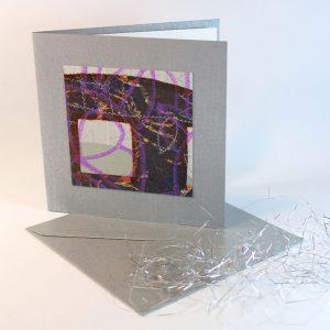 """Carterie d'Art - Carte artistique collection """"La face cachée"""" n°24 - Format 13,5 x 13,5 en vente sur la boutique de Carrés Nomades"""