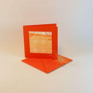 """Carterie d'Art - Carte artistique collection """"La face cachée"""" n°24 - Format 7,5 x 7,5 en vente sur la boutique de Carrés Nomades"""