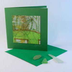"""Carterie d'Art - Carte artistique collection """"La face cachée"""" n°25 - Format 13,5 x 13,5 en vente sur la boutique de Carrés Nomades"""