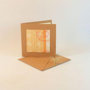 """Carterie d'Art - Carte artistique collection """"La face cachée"""" n°26 - Format 7,5 x 7,5 en vente sur la boutique de Carrés Nomades"""