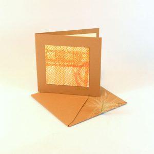 """Carterie d'Art - Carte artistique collection """"La face cachée"""" n°27 - Format 7,5 x 7,5 en vente sur la boutique de Carrés Nomades"""