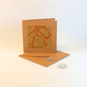 """Carterie d'Art - Carte artistique collection """"La face cachée"""" n°28 - Format 7,5 x 7,5 en vente sur la boutique de Carrés Nomades"""
