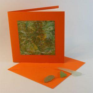 """Carterie d'Art - Carte artistique collection """"La face cachée"""" n°29 - Format 13,5 x 13,5 en vente sur la boutique de Carrés Nomades"""