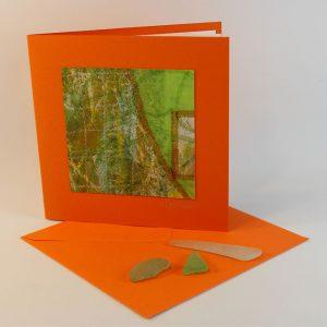 """Carterie d'Art - Carte artistique collection """"La face cachée"""" n°30 - Format 13,5 x 13,5 en vente sur la boutique de Carrés Nomades"""