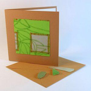 """Carterie d'Art - Carte artistique collection """"La face cachée"""" n°31 - Format 13,5 x 13,5 en vente sur la boutique de Carrés Nomades"""