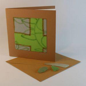 """Carterie d'Art - Carte artistique collection """"La face cachée"""" n°32 - Format 13,5 x 13,5 en vente sur la boutique de Carrés Nomades"""