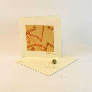 """Carterie d'Art - Carte artistique collection """"La face cachée"""" n°32 - Format 7,5 x 7,5 en vente sur la boutique de Carrés Nomades"""