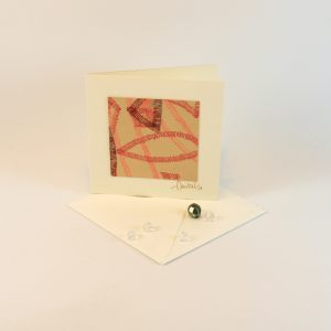 """Carterie d'Art - Carte artistique collection """"La face cachée"""" n°33 - Format 7,5 x 7,5 en vente sur la boutique de Carrés Nomades"""