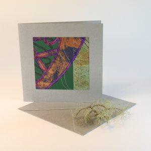"""Carterie d'Art - Carte artistique collection """"La face cachée"""" n°34 - Format 13,5 x 13,5 en vente sur la boutique de Carrés Nomades"""