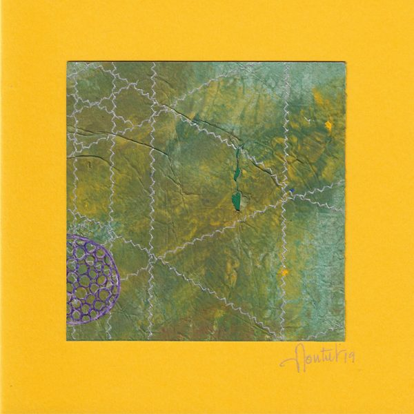 """Carterie d'Art - Carte artistique collection """"La face cachée"""" n°37 - Format 13,5 x 13,5 en vente sur la boutique de Carrés Nomades"""