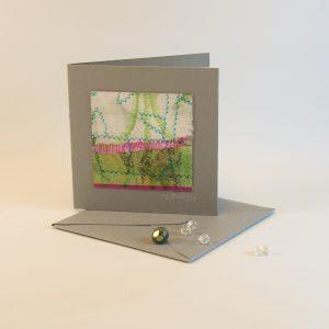 """Carterie d'Art - Carte artistique collection """"La face cachée"""" n°38 - Format 7,5 x 7,5 en vente sur la boutique de Carrés Nomades"""