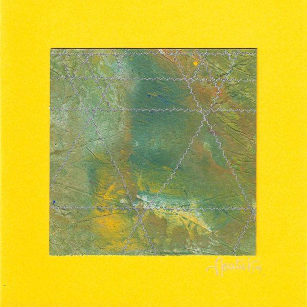 """Carterie d'Art - Carte artistique collection """"La face cachée"""" n°38 - Format 13,5 x 13,5 en vente sur la boutique de Carrés Nomades"""